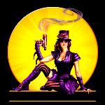 • Steampunk Pin-up / Logo Illustration